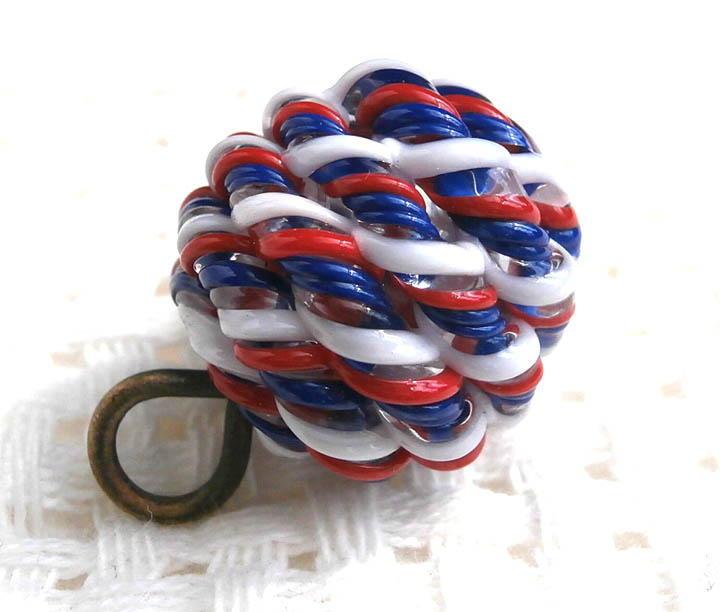 1pc #D275 UNIQUE Antique!!! Charmstring Glass Paperweight Button RARE!!!!