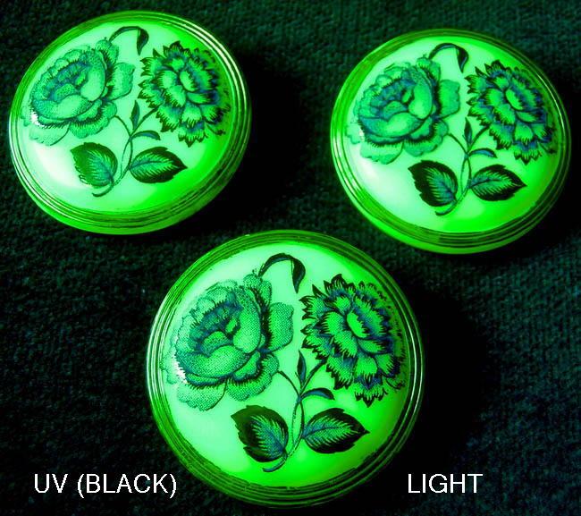 "3 Czech UNIQUE Glass Buttons #G662 - // 1-1//4/"" RARE HAND PAINTING!!!!! 32 mm"